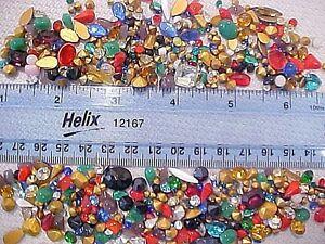 315 HUGE LOT VTG LOOSE GLASS RHINESTONES JEWELRY REPAIR UNUSED CRAFT FINDINGS M