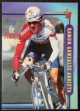 Tour de France ciclismo Arrieta Banesto colore azione CARD OTTIMO