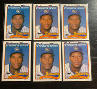 "Gary Sheffield RC Lot(6) 1989 Topps #343 Milwaukee Brewers ""Future Star"""