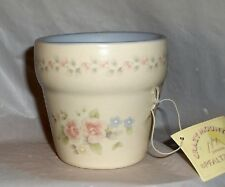 Pfaltzgraff  Tea Rose Flower Pot Votive Candle (Pastel Blue) by Crazy Mountain