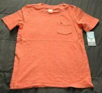 NWT Carter's Boys Size 4/5 Orange Garment Dyed Crew Neck Shirt Short Sleeve