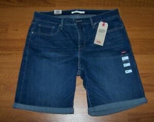 Size 20 W Womens Misses Shaping Bermuda Levi's Jean Shorts