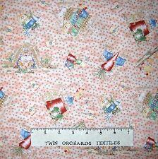 Bunny Fabric - Is It Spring Yet Rabbit Toss on Peach - Northcott OOP YARD