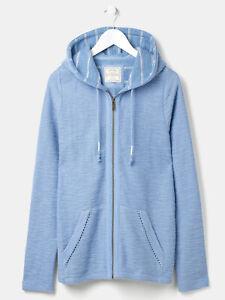 NEW FAT FACE SAIL BLUE Zip Thru Hoodie Top RRP £50 Size 14