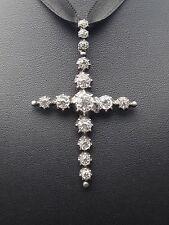 Ancienne croix devote regionale provençale Arlesienne argent massif et strass