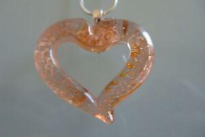 Herzanhänger original Muranoglas Schmuck Murano Anhänger Halskette Kette Herz