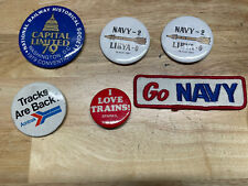 Train Buttons And Go navy Patch Lot