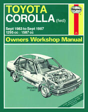 1024 Haynes Toyota Corolla (Sept 1983 - Sept 1987) A to E Workshop Manual