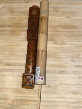 Nos vintage hand carved old stock wood  flutes Made in Indonesia