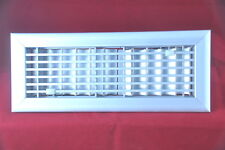 """NO RUST Anodized Heavy Aluminum Register 4"""" x 12"""" Hart Colley Double Deflection"""