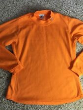 MIZUNO Breath Thermo Womens Orange Long Sleeve Light Pullover Shirt M Kd1