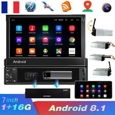 "7"" HD Autoradio 1 DIN Android 8.1 Écran tactile Bluetooth GPS NAVI WIFI AUX FM"