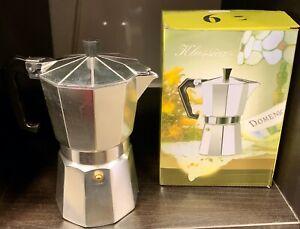 Espressomaschine, Espressokocher, Mokkamaschine für 3 Tassen