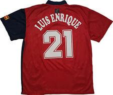 maglia spagna Euro 1996 Home Shirt Euro Luis Enrique #21 Barca jersey camiseta