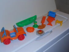 Lot of Vtg. Camping Toys, Jeep, Canoe, Picnic Table etc.