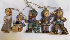 5 Berta Hummel Goebel Christmas Ornaments Boys Girls Tree Snowshoes Puppy Doll