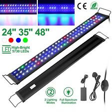 "24"" 35"" 48"" Full Spectrum Aquarium Led Light Freshwater Fish Tank Plant Marine"