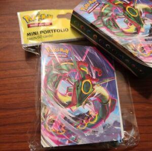1 MINI PORTFOLIO BINDER Holds 60 Pokemon Cards + Evolving Skies Checklist NEW