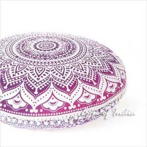 """32"""" Purple Pink Round Colorful Floor Meditation Pillow Cover Cushion Se"""