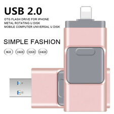 USB Unidad flash OTG Pendrive Memory Stick U disco para iPhone iPad PC 32GB 64GB