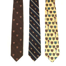Mixed Lot of 3 Patchs Yellow, Ducky Striped and Brown Tennis Patterned Men's Tie