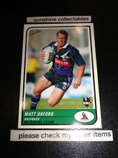 Matt Orford Melbourne Storm NRL & Rugby League Trading Cards