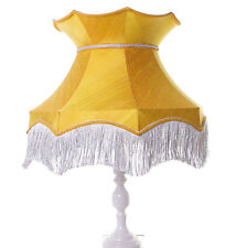 Gold lampshade in Victorian style in silk for a standard lamp or ceiling