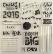 "Close To My Heart - Acrylic Stamps ""S1511 CHEERS 2016!  NEW YEARS - MY ACRILYX"