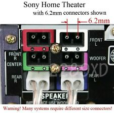 3 6.2mm speaker connectors made for select Sony Samsung LG Philips home theater