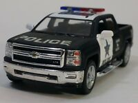 "New 5"" Kinsmart 2014 Chevrolet Silverado Police Truck Diecast Model 1:46 Chevy"