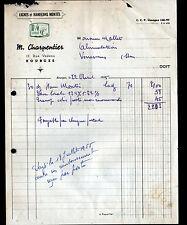 """BOURGES (18) MATERIEL de PECHE / LIGNES & HAMECONS """"M. CHARPENTIER"""" en 1955"""