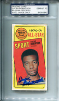 Oscar Robertson Autographed 1970 Topps Card (PSA/DNA)