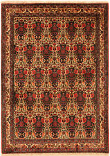Red 4' x 5' Abadeh Rug Hand Knotted Persian Rug
