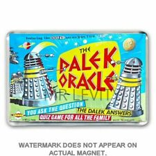 RETRO  -DOCTOR WHO -DALEK ORACLE GAME -BOX ART  JUMBO FRIDGE / LOCKER MAGNET