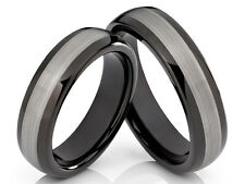 2 Ring Wedding Rings Bands Engagement Ring Wolfram Tungsten with Laser Engraving