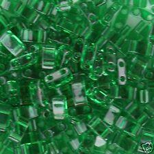 Miyuki Transparent Green Half Tila 2.5x5mm Bead TLH-146 10g