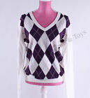 Tommy Hilfiger Women Argyle Long Sleeve Pullover Sweater - Free 0 Shipping