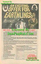 Official Star Wars Fan Club: R2D2, C3PO: 1978 Print Ad!