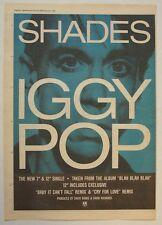 Iggy Pop 1987 Poster Ad Shades blah blah blah