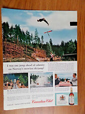 1961 Canadian Club Whiskey Ad  Norway's Snowless Ski-Jump