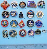 NASA enamel PIN lot of 21- vtg ISS SPACE station SHUTTLE Gemini - Group D