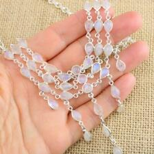 Delicate Moonstone 925 Sterling Silver Necklace 35g Gemstone Jewellery