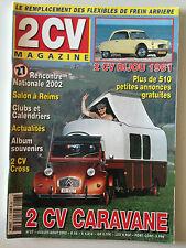 2CV MAGAZINE N°27 2002 2CV CARAVANE