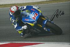 Randy de Puniet Firmada A Mano Suzuki MotoGP 2014 12x8 Foto.