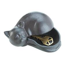 small iron CAT emergency Key keeper hider box outdoor security Garden Statue