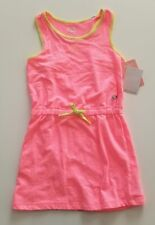 NWT Marika Athletic Dress 10-12 years French Terry Fleece Neon Yellow Pink $36