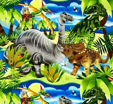 Dino Dinosaurier Baumwollstoff Patchwork Stoffe Kinderstoffe Kinder Vorhangstoff