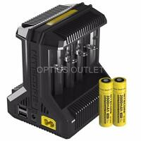 Nitecore i8 Multi-slot Intelligent Universal Charger and x2 18650 Batteries