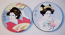 nice vintage pair japan hamilton collection arts of the geisha flowers dancing
