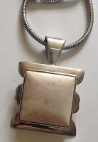 pendentif collier en argent 925 poinçon chaine ronde pierre dure naturelle 4434